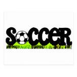 Soccer (On Grass) Postcard