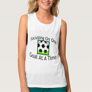 Soccer One Goal At A Time Tank Top