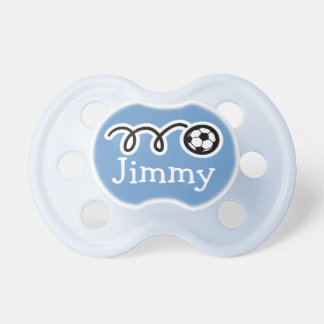 Soccer pacifer with name / Soother dummy binkie