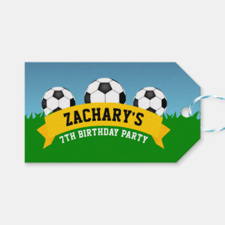 Soccer Party Gift Tags