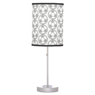 Soccer pattern table lamp