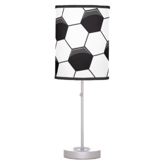 Soccer pattern table lamps