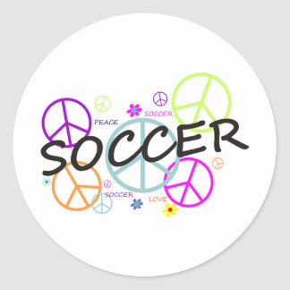 Soccer Peace Classic Round Sticker