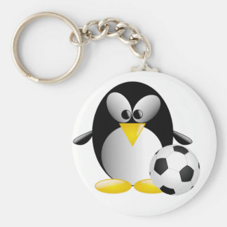Soccer Penguin Keychain