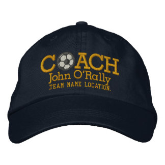 Soccer Personalize Coach Hat Name Team Embroidered Baseball Caps