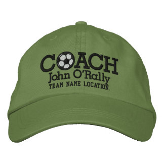 Soccer Personalize Coach Hat Name Team Embroidered Hats