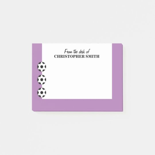 Soccer PERSONALIZE colour name Post-it Notes