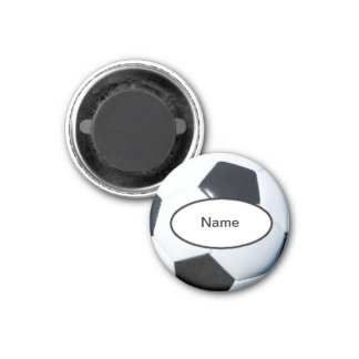 soccer personnalisé magnet carré 2,50 cm