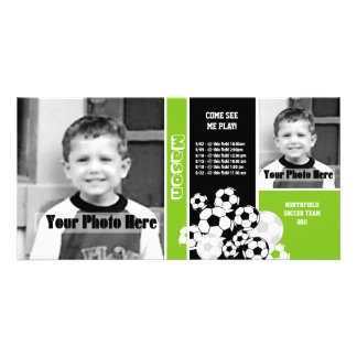Soccer Photo Sport Schedule Customized Photo Card