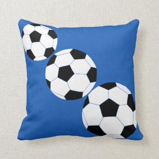 Soccer Pillow: Navy Soccer Throw Pillow