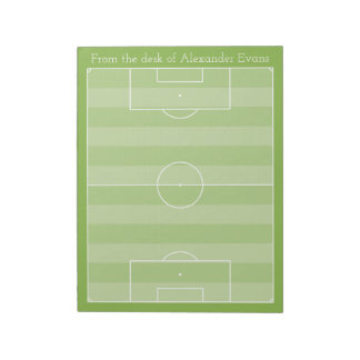 Soccer Pitch Notepad