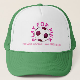 Soccer Play for Breast Cancer Awareness Hat