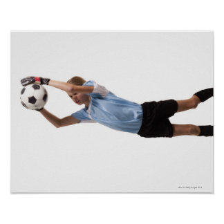 Soccer player 4 poster