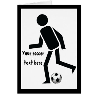 Soccer player and ball custom gift card