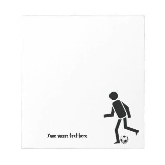 Soccer player and ball custom gift notepad