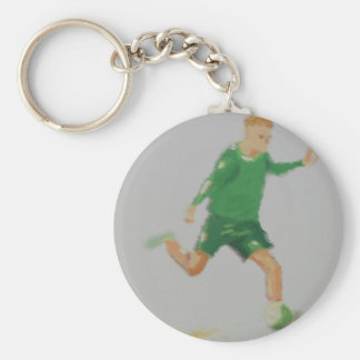 Soccer Player Art Keychain