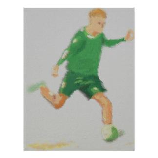 Soccer Player Art Letterhead