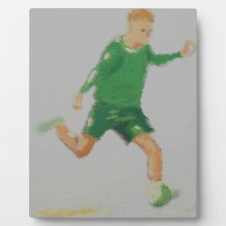 Soccer Player Art Plaque
