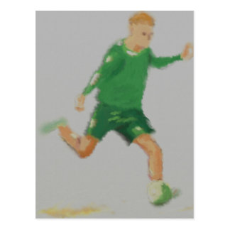 Soccer Player Art Postcard