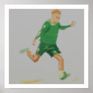 Soccer Player Art Poster