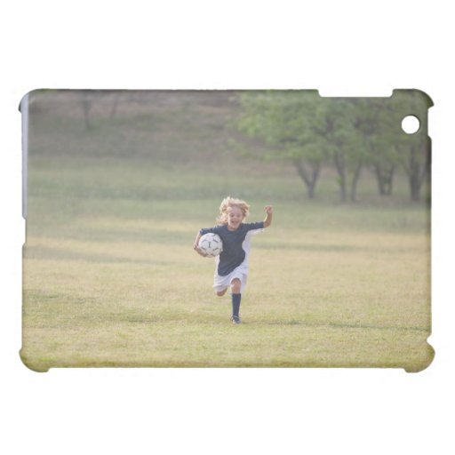 Soccer player cheering and yelling iPad mini covers