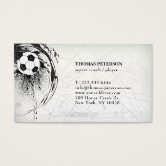 Soccer Player Coach Football Ball Decorated Card
