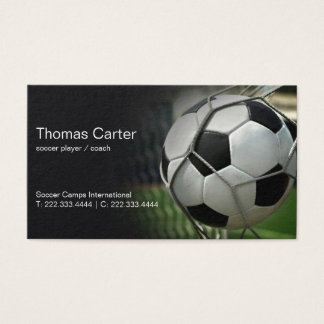 Soccer Player Coach Football Camp International Business Card