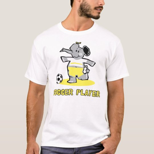 Soccer Player Elephant T-Shirt