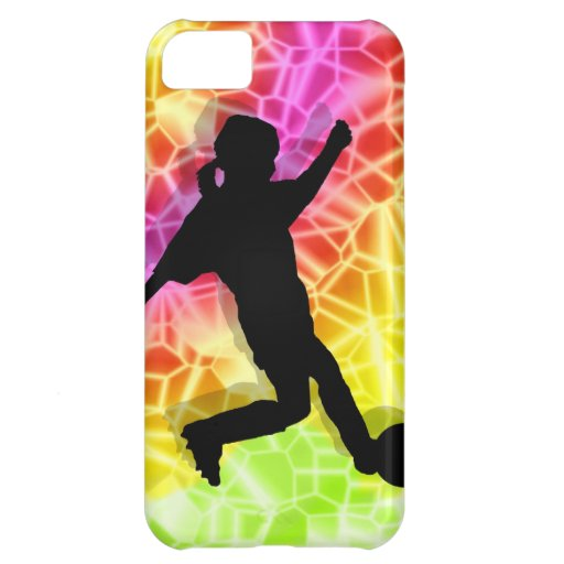 Soccer Player & Fluorescent Mosaic Cover For iPhone 5C