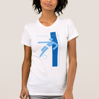 Soccer Player Ladies Casual Scoop T-shirts