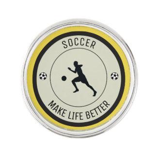 Soccer Player Lapel Pin