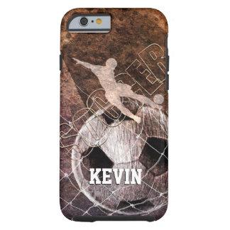 soccer player man kicking ball goal tough iPhone 6 case