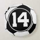 Soccer Player Number 14 Sports Ball Gift Round Pillow