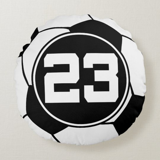 Soccer Player Number 23 Sports Ball Gift Round Pillow