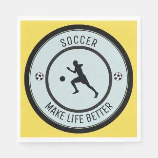 Soccer Player Paper Napkins