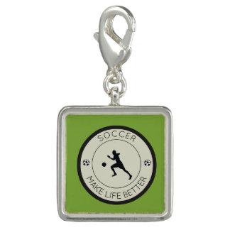 Soccer Player Photo Charms