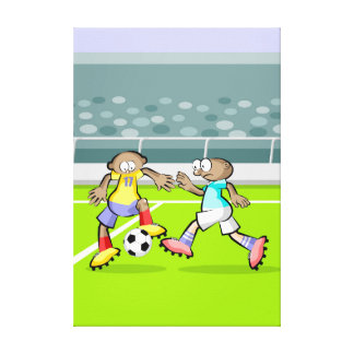 Soccer player receiving happens spectacular canvas print