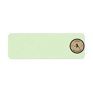 Soccer Player Return Address Label