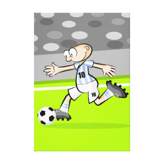 Soccer player running in the field canvas print