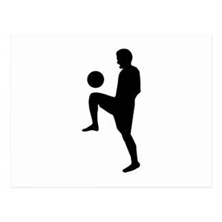 Soccer Player Silhouette Postcard