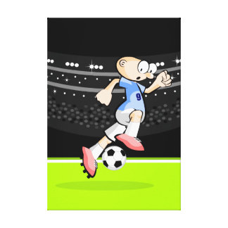 Soccer player stars running with the ball canvas print