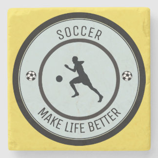 Soccer Player Stone Coaster