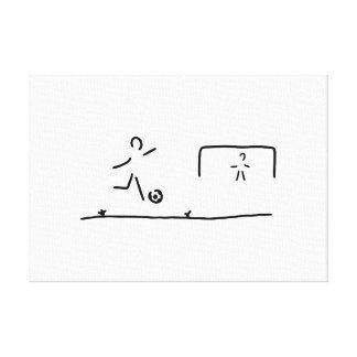 soccer player torschuss football canvas print