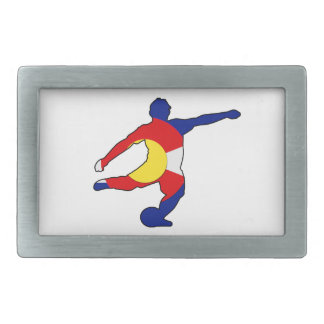 Soccer Player with Colorado Pride! Belt Buckles