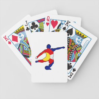 Soccer Player with Colorado Pride! Bicycle Playing Cards