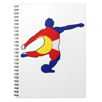 Soccer Player with Colorado Pride! Notebooks