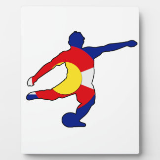 Soccer Player with Colorado Pride! Plaque