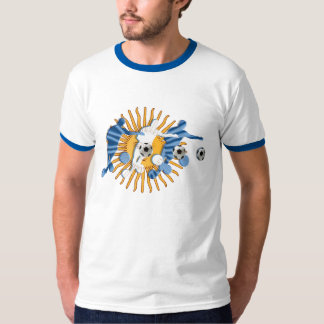 Soccer players Argentinian sun flag gifts T-Shirt