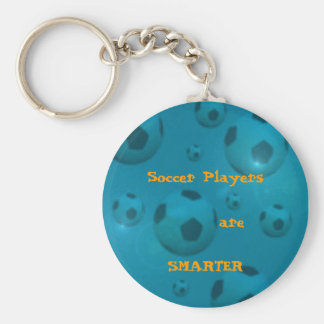 Soccer Players Basic Round Button Keychain
