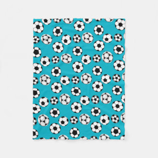 Soccer players fleece blanket